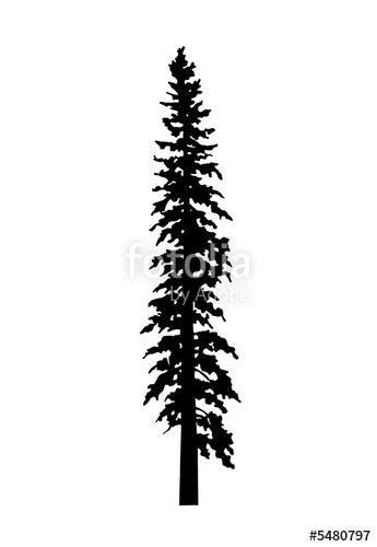 345x500 Eastern White Pine Tree Silhouette