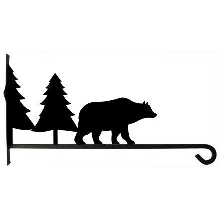 440x440 Plant Hanger Bear Amp Tree 18 Inch Ceardai Wrought Iron Lawn