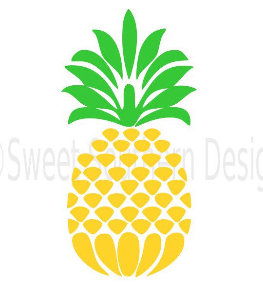 540x622 Pineapple Monogram Svg Instant Download Design For Cricut