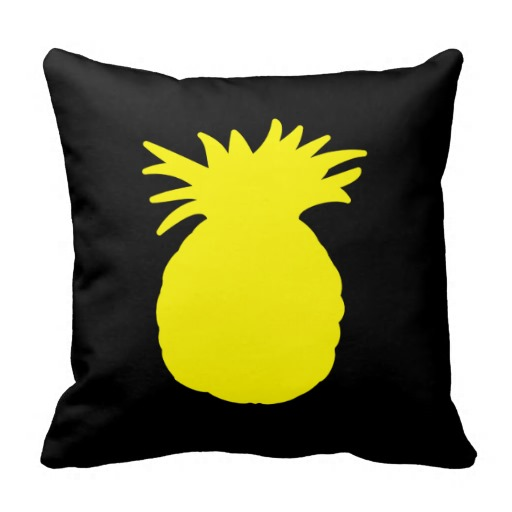 512x512 Pineapple Silhouette Yellow Pineapple Silhouette Pillows