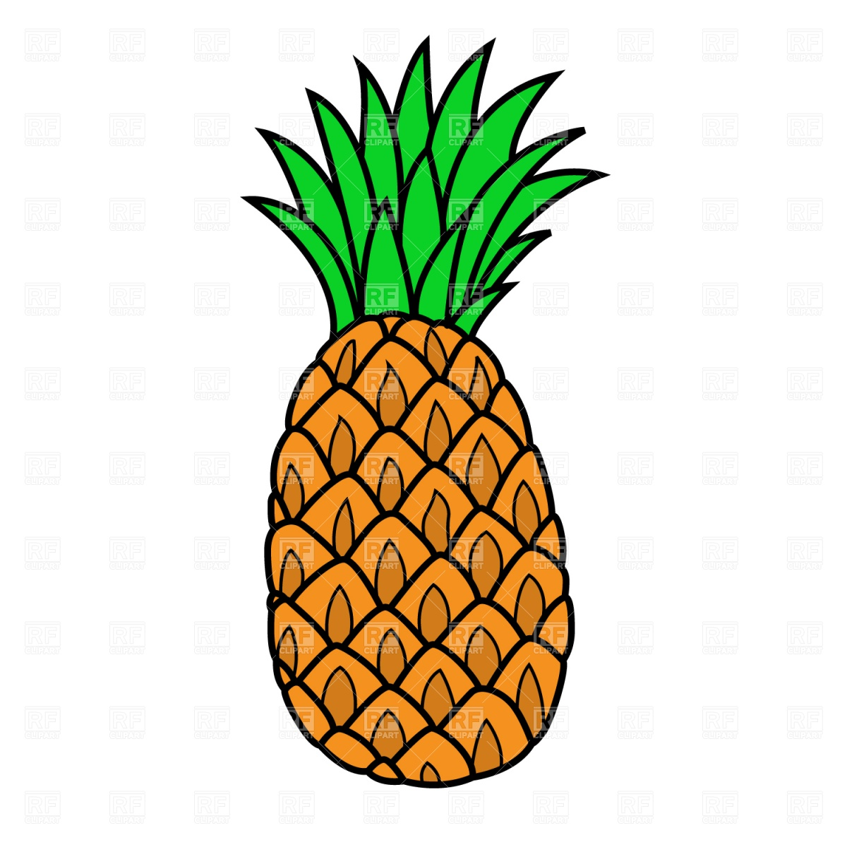 1200x1200 Pineapple Royalty Free Vector Clip Art Image