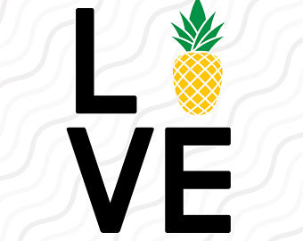 340x270 Pineapple Svg, Dxf, Eps, Vinyl Cut Files, For Use With Silhouette