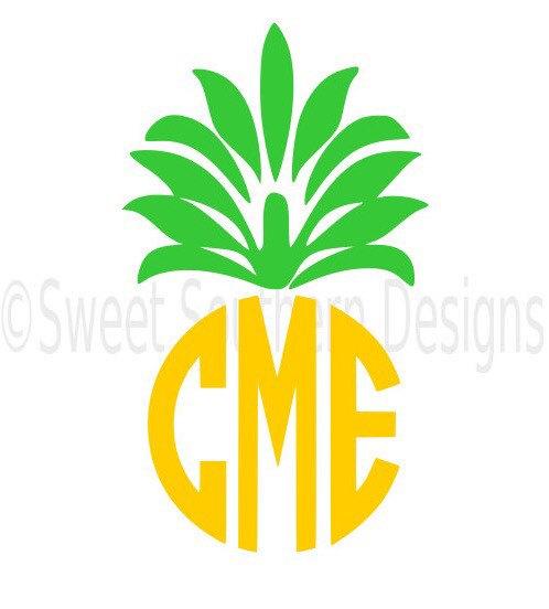 498x552 Pineapple Monogram Svg Instant Download Design For Cricut