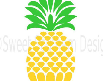 340x270 Pineapple Welcome Design Svg Instant Download Design For Cricut