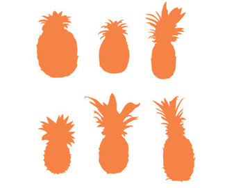340x270 Pineapple Stencil Svg Dxf File Instant Download Silhouette Cameo