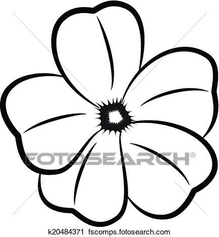 434x470 Flower Silhouette Clipart