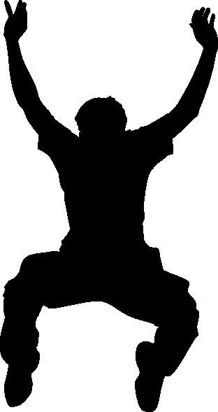 312x589 Jumper Silhouette Clip Art Free Vector 4vector