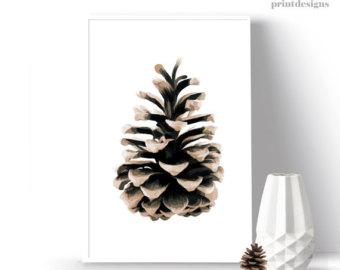340x270 Modern Christmas Printable Gold And Black Reindeer And Tree