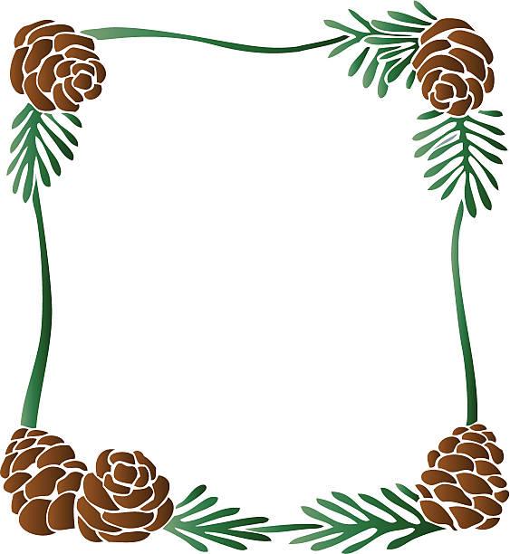 563x612 Pine Cone Clipart Border