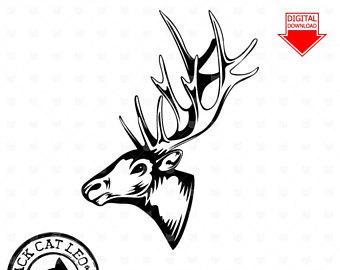 340x270 Elk Clipart Etsy
