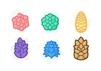 352x247 Floral Pine Cone Elements Vectors Free Vector Download 433237