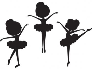 375x281 Little Ballerina Silhouette Clipart