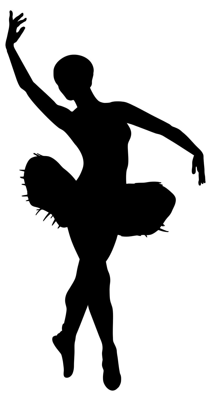 889x1688 Pink Tutu Wearing Ballerina Silhouette Clipart