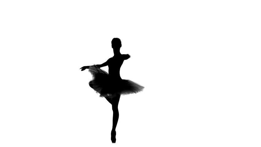 852x480 Portrait Of The Ballerina In Ballet Pose On A White Background