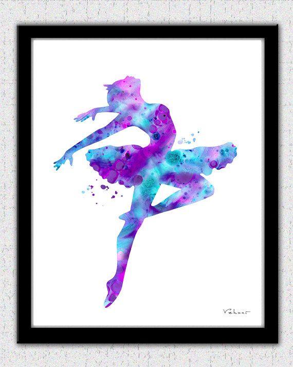 570x713 Purple, Pink, Aqua, Ballerina 1, Ballerina Print, Ballerina