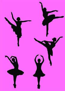 216x300 Ballerina Silhouette Design Wall Artsticker Home Decal In 3