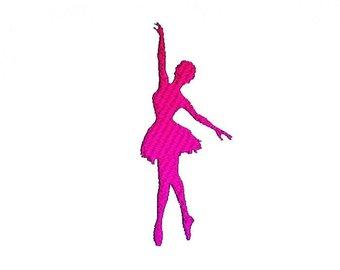340x270 Ballerina Ballet Dancer Silhouette Embroidery Machine Design