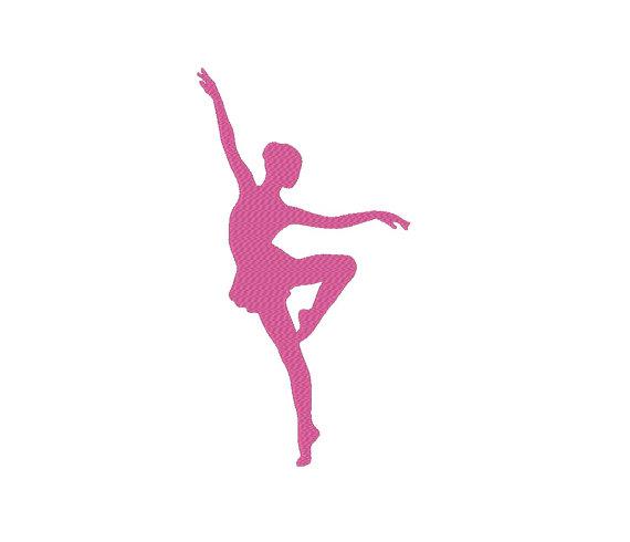 570x490 Ballerina Ballet Dancer Silhouette Embroidery Machine Design