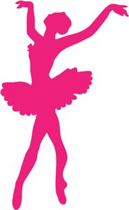 Pink Dancer Silhouette