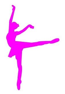 228x330 Ballet Dancer Silhouette 3 Decal Sticker