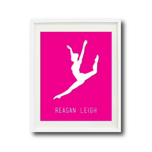 600x600 Dancer Silhouette Art Print With Name