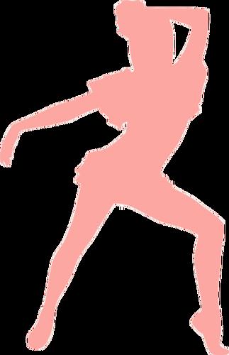 323x500 Pink Dancing Girl Public Domain Vectors