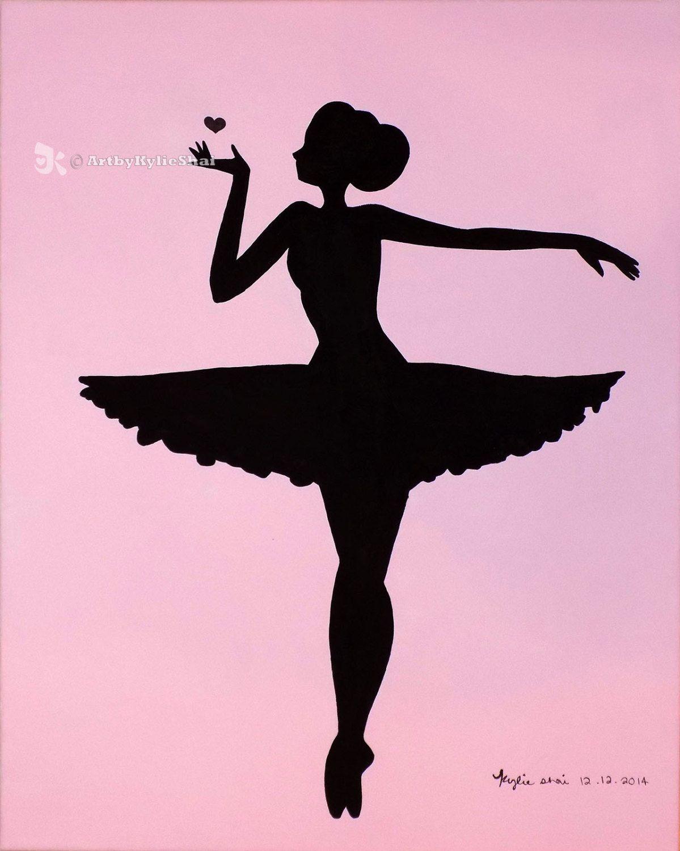 1199x1500 Printable (Ballerina Silhouette Pink) By Artbykylieshai On Etsy