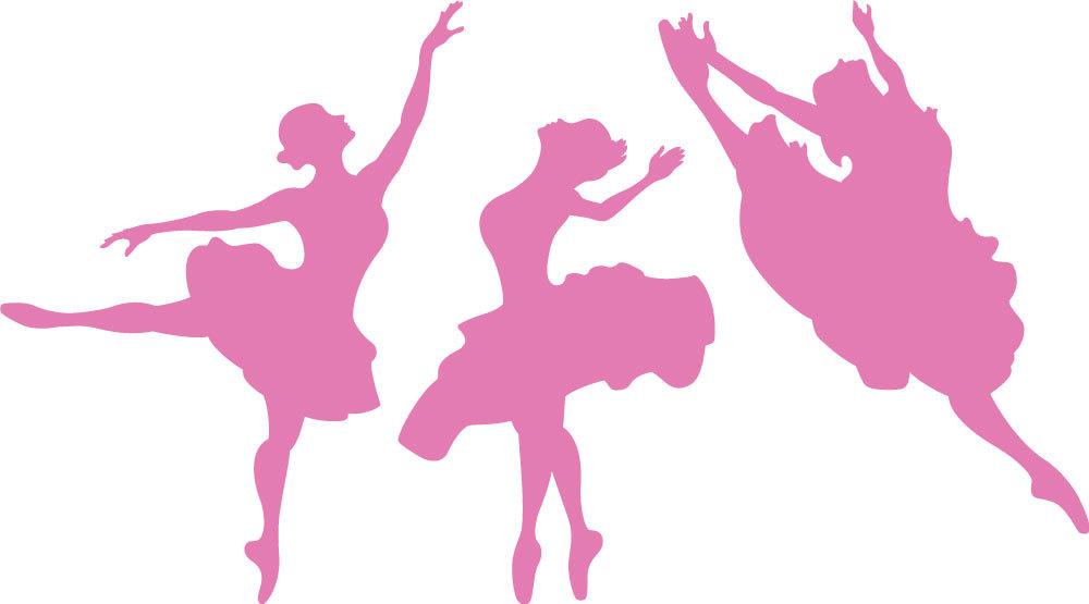 1000x555 Ballerina Clipart Pink Silhouette