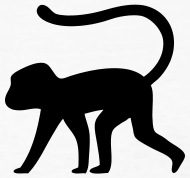 190x178 Monkey Silhouette by Azza1070 Spreadshirt
