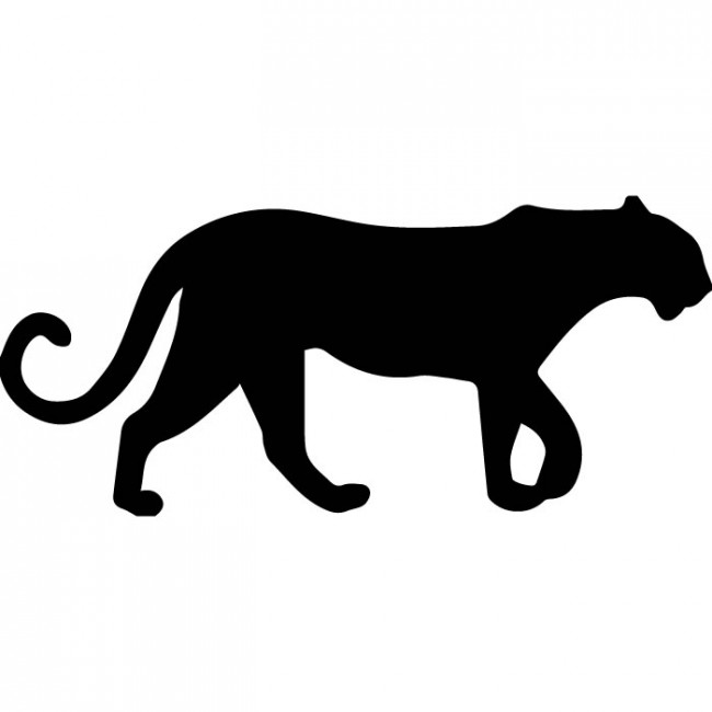 650x650 Panther Silhouette Wall Sticker Animal Wall Art