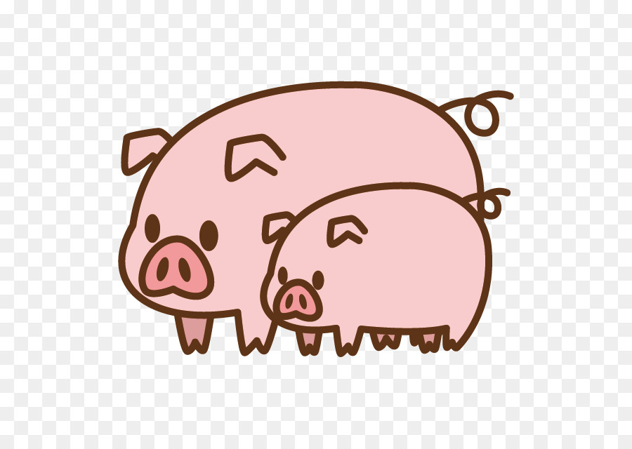 900x640 Domestic Pig Silhouette Clip Art