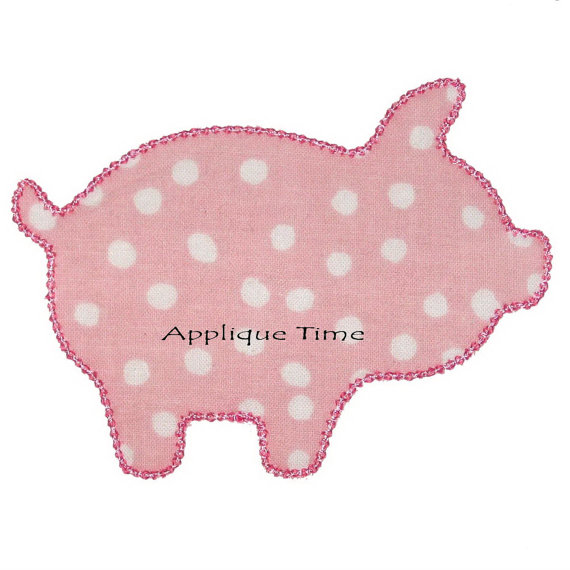 570x570 Instant Download Pig Silhouette Machine Embroidery Applique