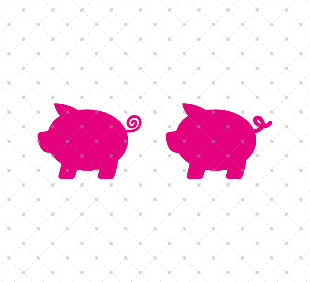 1000x909 Little Pig Svg Cut Files Cutting Files, Piglets And Photo Cards