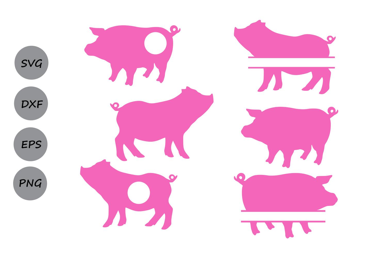 1500x1000 Pig Svg Cut File, Pig Monogram Svg, Sil Design Bundles