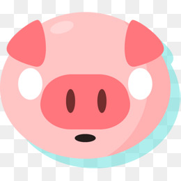 260x260 Red Cartoon Pig Silhouette, Paper Cutting, 21 Zodiac, Pig Png