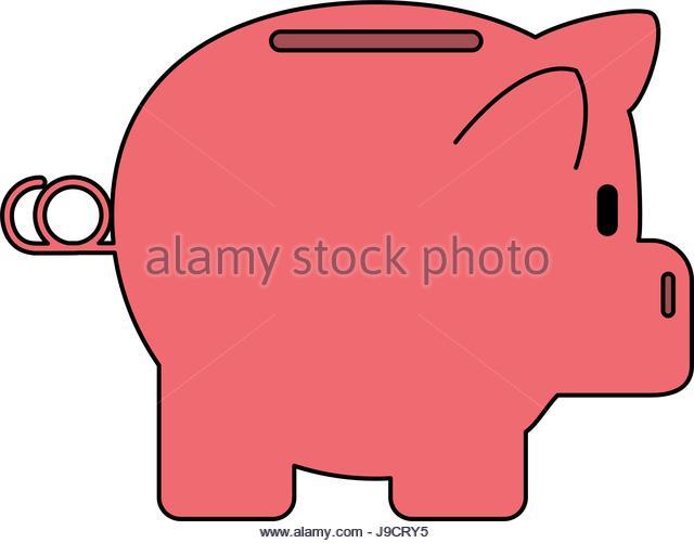 640x501 Cartoon Illustration Color Pink Pig Stock Photos Amp Cartoon