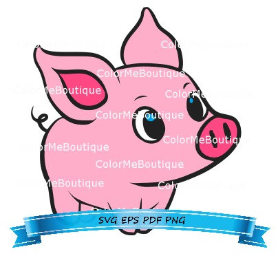 404x375 Cute Pig Clipart Pigs Svg File, Clip Art And Scale