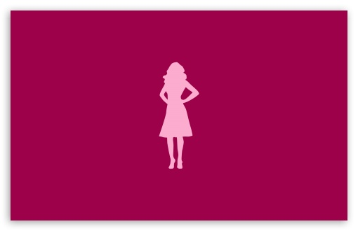 510x330 Pink Girl Silhouette 4k Hd Desktop Wallpaper For 4k Ultra Hd Tv