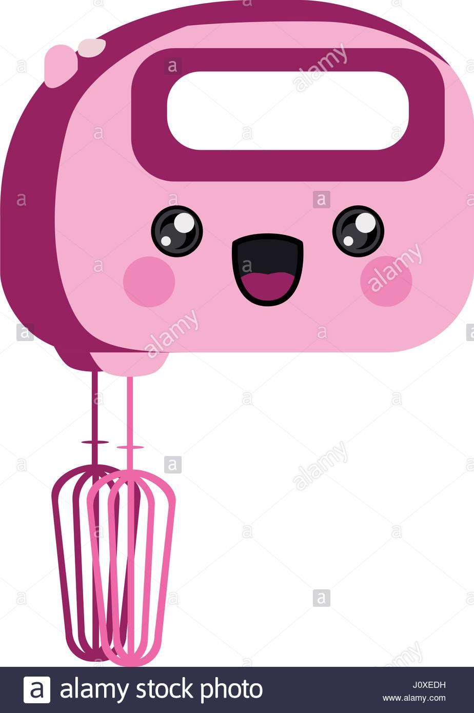 924x1390 Pink Color Silhouette Of Cartoon Kitchen Mixer Stock Vector Art