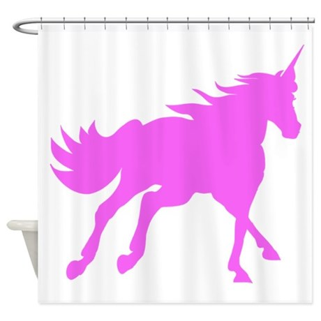460x460 Unicorn Silhouette Shower Curtains