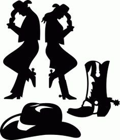236x274 Cowboy Silhouette Cowboys, Silhouettes And Characters