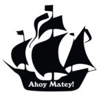 150x150 9693265 Silhouette Of A Pirate Ship With The Image Skeleton