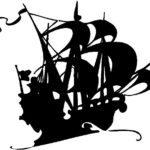 150x150 Silhouette Of Old Sailing Ship Royalty Free Cliparts Vectors