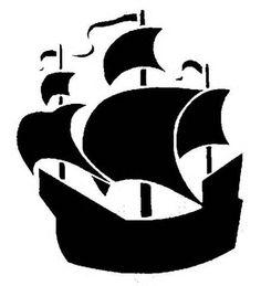 236x259 Peter Pan Pirate Ship Silhouette