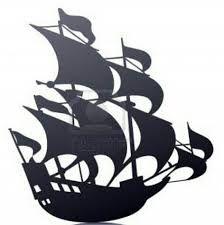 224x225 Pirate Ship Silhouette