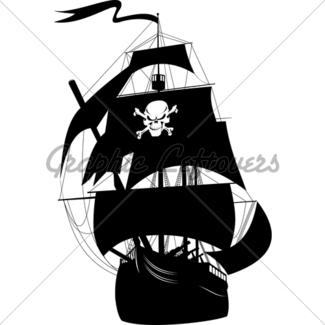 325x325 Cute Pirate Ship Cartoon Gl Stock Images