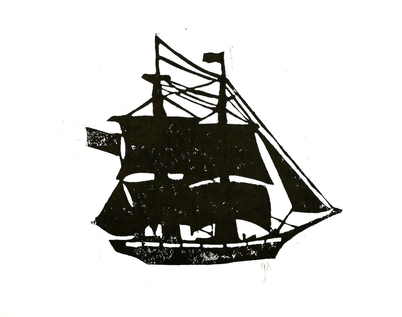 1500x1185 Ghost Pirate Ship Silhouette