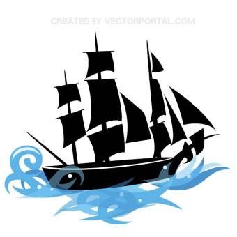 340x340 Pirate Ship Drawings Silhouette Clip Art Google Search Pirate