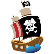 190x190 Pirates And Galleon Ship Silhouette Premium Clipart