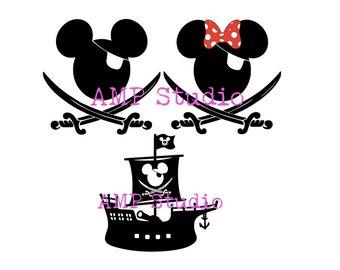 340x270 Mickey Pirate Svg Etsy